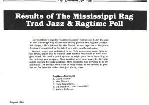 Mississippi Rag Poll