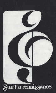Original fundraising concept, New England Conservatory, Boston, Massachusetts, early 1970s.
